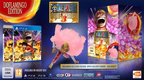 Jaquette de One Piece : Pirate Warriors 3 présente l'édition Doflamingo
