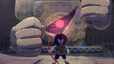 "Jaquette de Titan Souls : Et si Shadow of the Colossus était un ""die & retry"" en 2D ?"