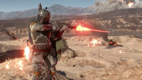Star Wars : Battlefront en pleine battaille d'Endor