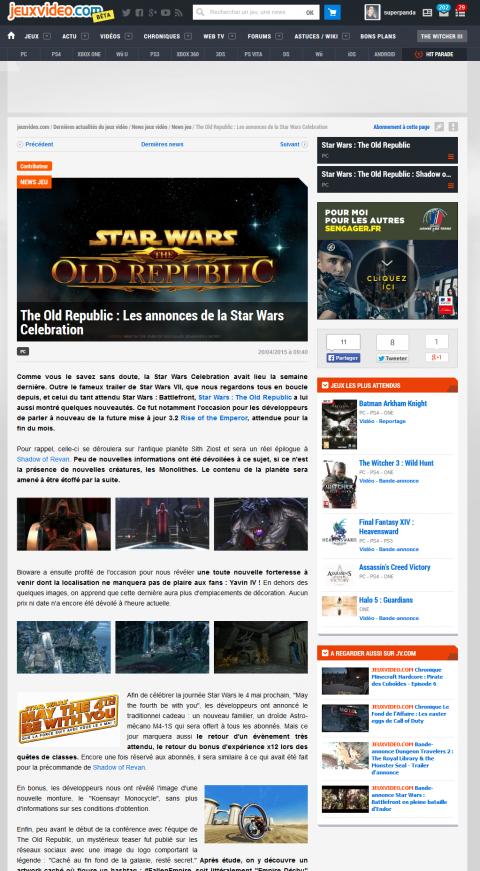 Vos articles sur Jeuxvideo.com plus facilement !