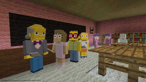 Les Simpson débarquent dans Minecraft sur PlayStation