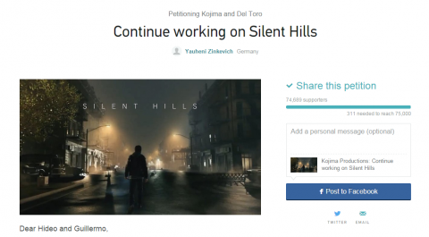 Une pétition pour relancer le développement de Silent Hills