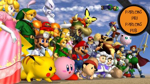 Parlons Peu Parlons Pub - L'évolution des publicités de Super Smash Bros.