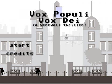 Vox Populi, Vox Dei (a werewolf thriller) sur Web