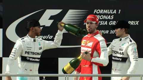 F1 2015 sur la première marche du podium des ventes au Royaume-Uni