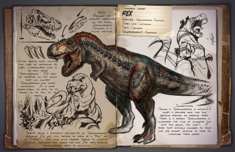 Jaquette de Ark Survival Evolved le guide des dinosaures