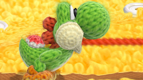 Jaquette de Yoshi's Woolly World : Jeu d'ombres chinoises....