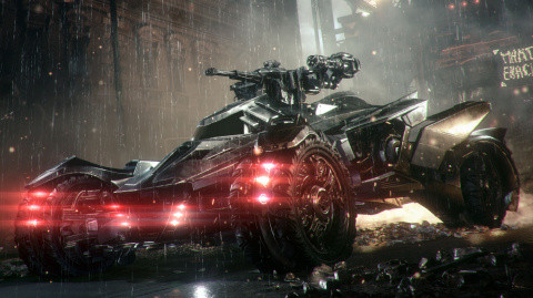 Jaquette de Batman Arkham Knight - 2/3 : La Batmobile en mode combat