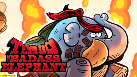 Jaquette de Tembo The Badass Elephant daté sur PC, PS4 et Xbox One