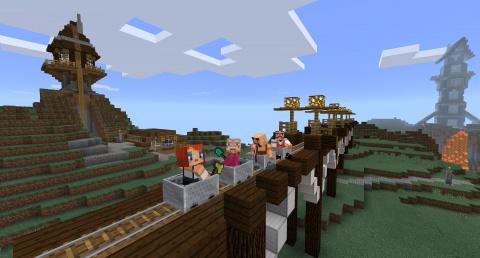 gamescom : Minecraft Windows 10 présenté sur le stand Microsoft