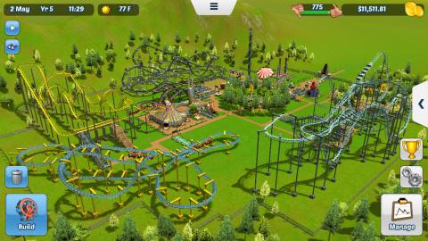 RollerCoaster Tycoon 3 sur iOS et sans achats en jeu