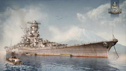 Jaquette de World of Warships parle de son engin