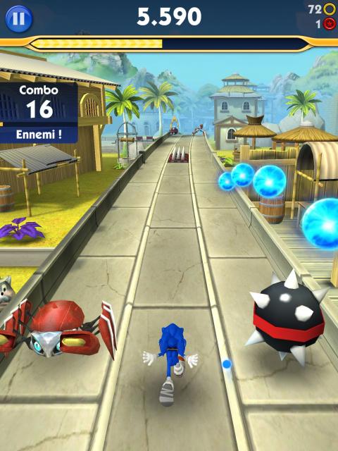 Sonic Dash 2 : Sonic Boom - Rien ne sert de courir...