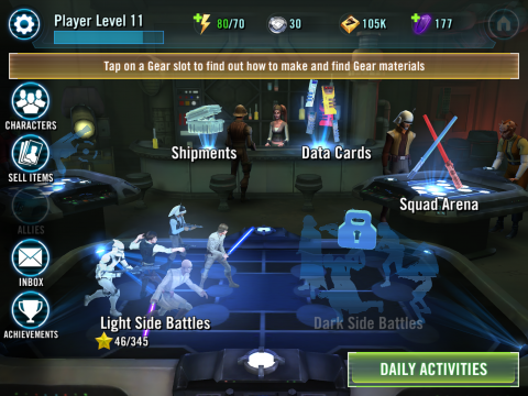 Star Wars: Galaxy of Heroes, le Free to play a encore frappé