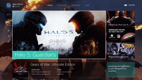 Xbox One : La nouvelle interface abandonne la navigation avec Kinect