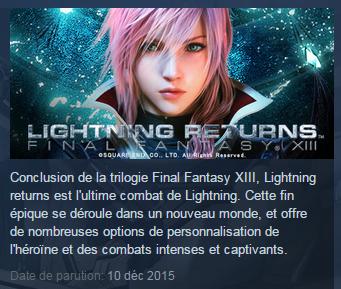 Lightning Returns: Final Fantasy 13 daté au 10 décembre sur Steam