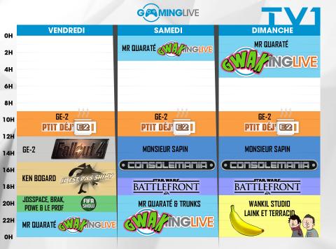 La matinale de Gaming Live également là ce week-end