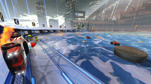"Jaquette de Rocket League : Les DLC ""Winter Games"" et ""Chaos Run"" pour décembre"