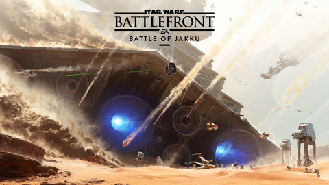 "Jaquette de Star Wars Battlefront : EA parle des maps du DLC ""Battle of Jakku"""