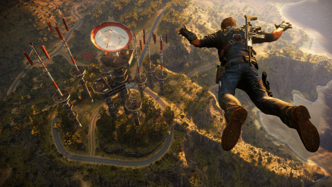 Jaquette de Just Cause 3, destruction d'une base militaire