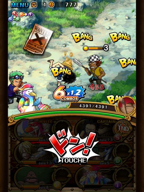 One Piece Treasure Cruise : Le rendez-vous des pirates sur mobiles