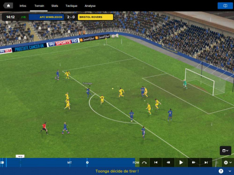 Football Manager Touch 2016 : le football au bout des doigts