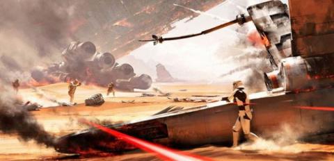 Star Wars Battlefront : Gameplay en défense sur Jakku, la marche Impériale en mode Plaque Tournante ?