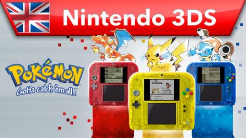 Jaquette de Pokémon Version Bleue, Rouge et Jaune bientôt sur 3DS
