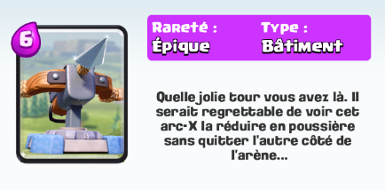 Carte x arc pr sentation et statistiques d taill es for Clash royale deck arc x