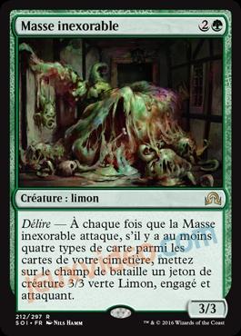 Nouvelle carte Magic en exclu Ténèbres sur Innistrad : Masse inexorable