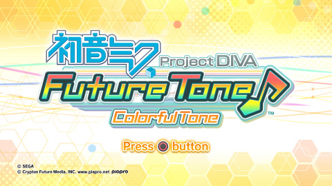 Hatsune Miku Project Diva Future Tone : Colorful Tone sur PS4
