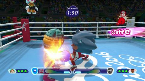 Mario et Sonic aux Jeux Olympiques de Rio 2016, premier tour de piste sur Wii U
