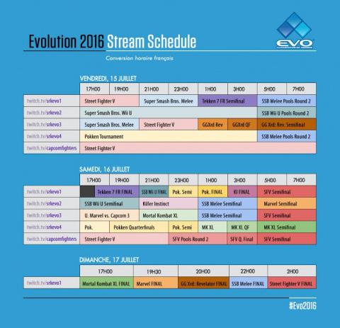 Suivez l'EVO en français ce week-end sur Gaming Live