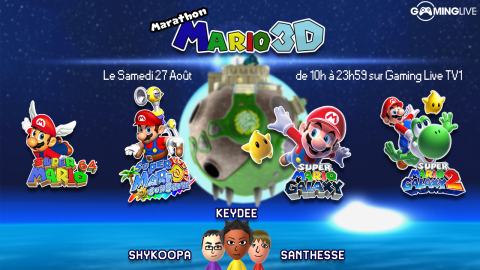 Suivez le marathon Mario 3D ce samedi sur Gaming Live