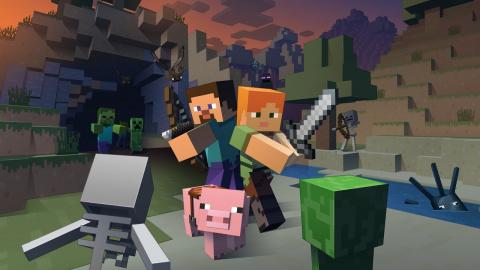 Jaquette de Minecraft présente son nouveau mini-jeu : Tumble