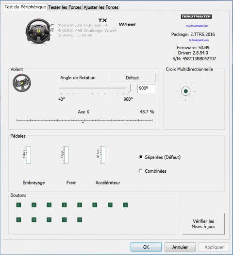 Test du volant Thrustmaster TX Racing Wheel Ferrari 458 Italia Edition : Le déséquilibre en force