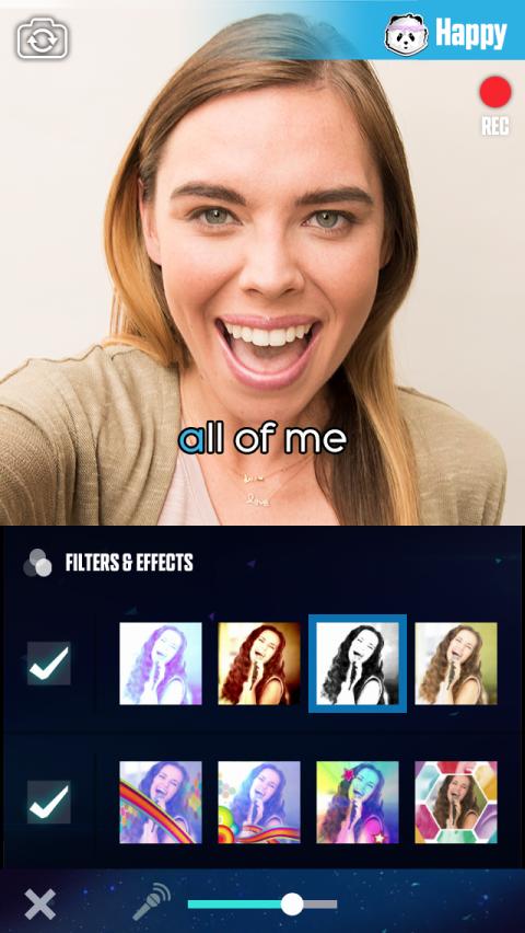 L'application sur smartphone offre de nombreux filtres à appliquer