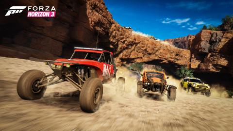 Forza Horizon 3 : Une course de buggies complètement folle