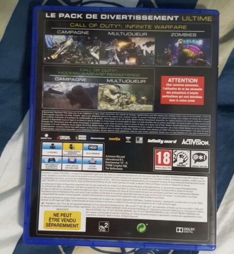 130 Go requis pour Infinite Warfare et Modern Warfare Remastered