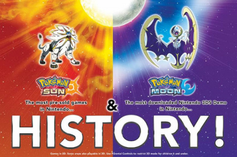 Pokémon Soleil et Lune deviennent les jeux les plus précommandés de Nintendo