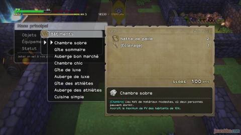 Dragon Quest Builder Chambre