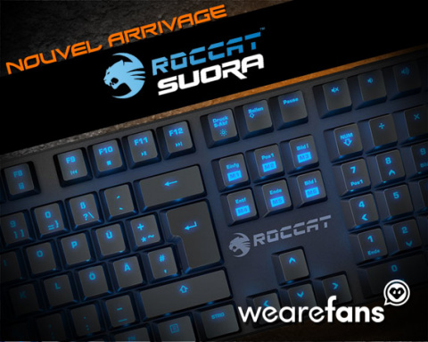We Are Fans : Le dernier clavier gamer ROCCAT sur le Shop !