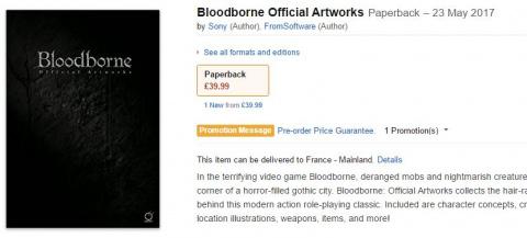 Bloodborne : Le livre d'artworks bientôt en Europe