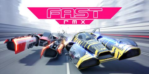 Jaquette de Fast RMX : un mix rapide entre WipEout et F-Zero  sur Switch