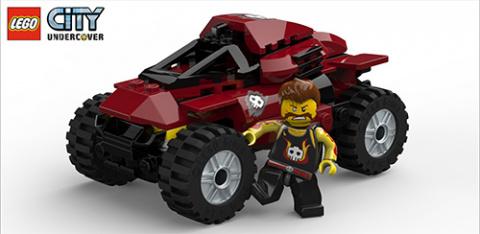 Jaquette de LEGO City Undercover présente ses véhicules