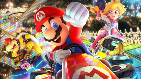Jaquette de Mario Kart 8 Deluxe : Le jeu multi par excellence, un must-have ! sur Switch