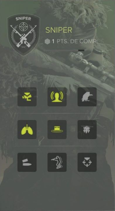 Les compétences Sniper