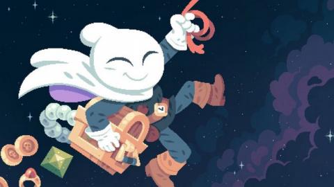 Jaquette de Flinthook : Faut-il mettre le grappin sur ce Rogue-like en pixel art ?