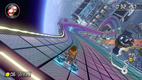 Pack spécial Nintendo Switch avec la console, Mario Kart 8 + 2 volants Konix Switch