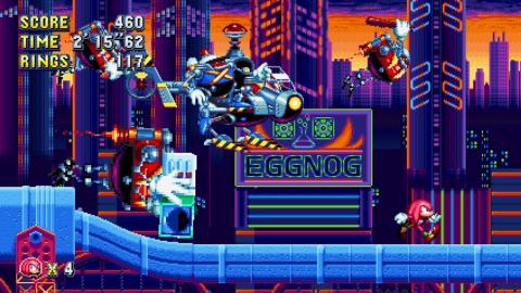 Jaquette de Sonic Mania : Knuckles débarque à toute vitesse